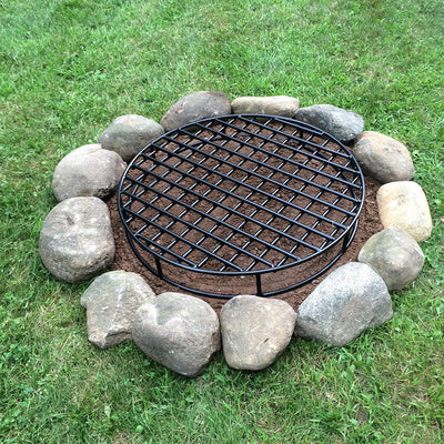 Setting up your fire pit grate