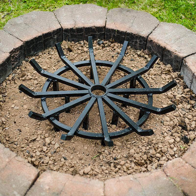 steel fire pit grate powder coated heavy duty round campfire
