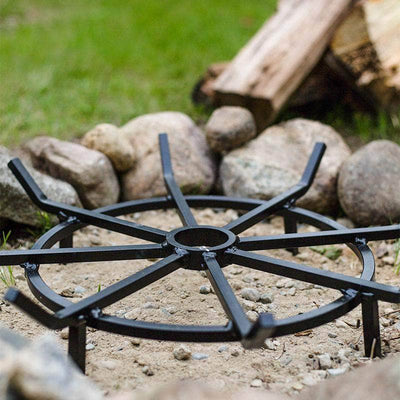 round steel fire pit grate by walden backyards