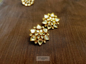 Silver gold plated flora star studs