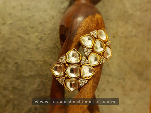 Silver gold plated aura earring
