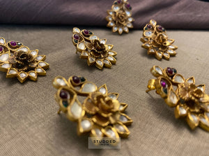 Silver gold plated blooming floris studs