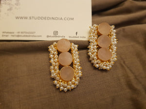Textured Natural Luchi Stone earrings