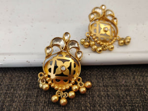 Silver gold plated filigiree floris studs