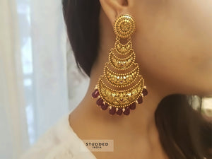 Heritage ruby roo layered earring