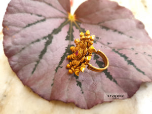 Silver gold plated vana heritage ring