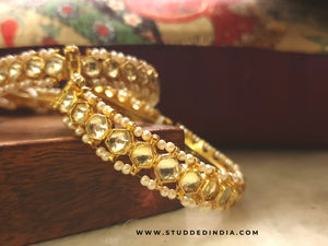 Classic kundan string bangle