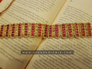 Starry cluster band choker (rose)
