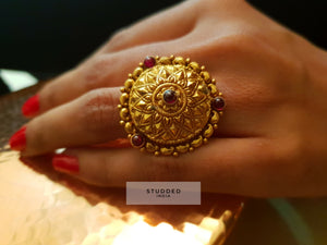 Silver gold plated heritage ring