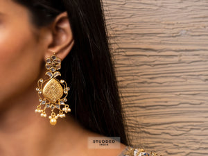 Silver gold plated ellora drops