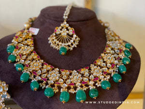 Innara multi neckpiece tikka and earring set