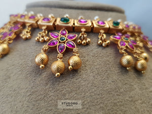 Traditional veera flower motif set