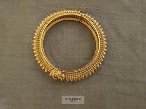 Silver gold plated classic mangala bangle