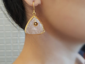 Silver gold plated dusty rose drops
