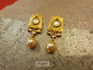 Silver gold plated niya pearl drops