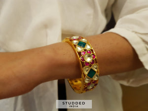 Classic kundan festive bangle