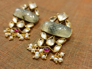 Silver gold plated maharani drops
