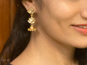 Silver gold plated floris jhumki