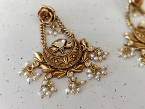 Silver gold plated floral vibha