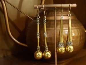 Silver gold plated mid-week earrings