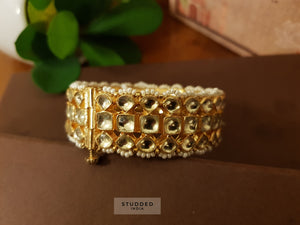 Classic kundan multi string bangle