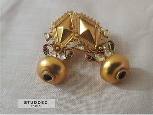 Silver gold plated varuna vintage studs