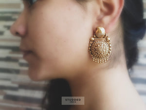 Silver gold plated traditional studs