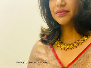 Silver gold plated classic heritage neckpiece
