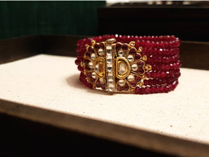 Ruby red gemstone bracelet