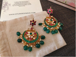 Festive zubha chaand earrings