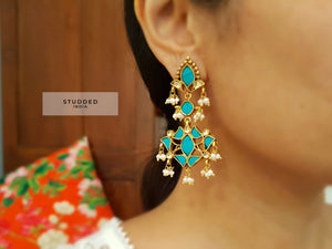 Silver gold plated ethnic twirl drops