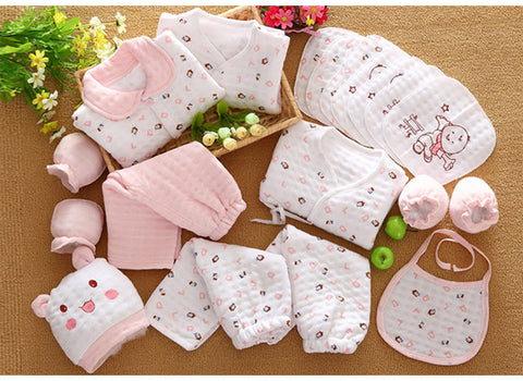 19 Pcs/Set Cotton Newborn Baby Girl Clothes