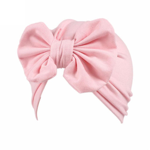 Baby Girls baby Head Wrap Cap with bowtie