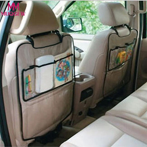 Universal 1PC Car Auto Seat Back Protector Cover Car Interior Children Kick Mat Storage Bag Accessories Car Styling