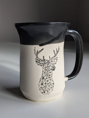 Geometric Deer Graphic Mug