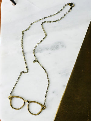 The Wayfarer - Eyeglasses Pendant Necklace (Nickel Free)