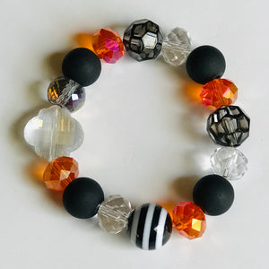 Gameday Mix - OSU or ECU Inspired Mixed Bead & Stone Stretch Bracelet Stack (Set of 5)