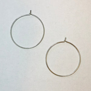 Feather Wire Collection - Karde Silver Hoops (Nickel Free)