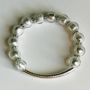 Silver Spangled - Silver & Clear Stacking Bracelet (Set of 3)