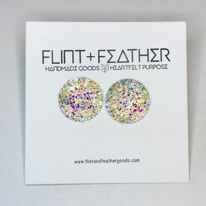 Druzy Collection - Vibrant Dome Druzy Earrings