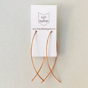 Minimalist Support Ribbon Earrings