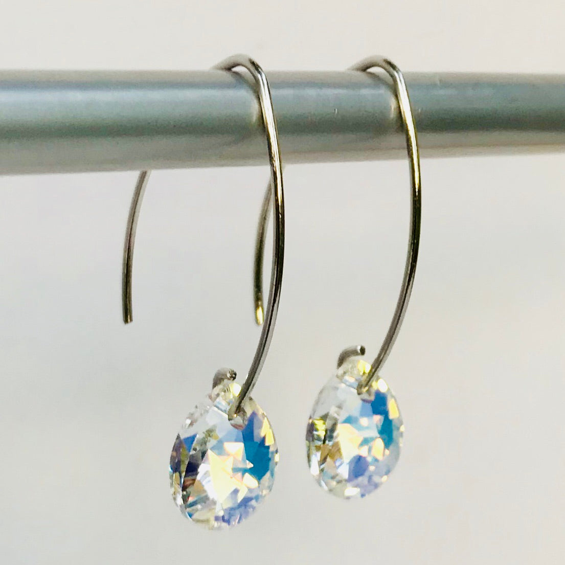9a2fa97e666658 Sterling Silver & Swarovski Crystal Earrings - Flint+Feather