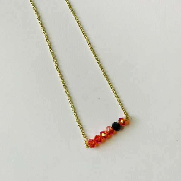 Get Loud  - Orange/Black BeadBar Necklace (Nickel Free)