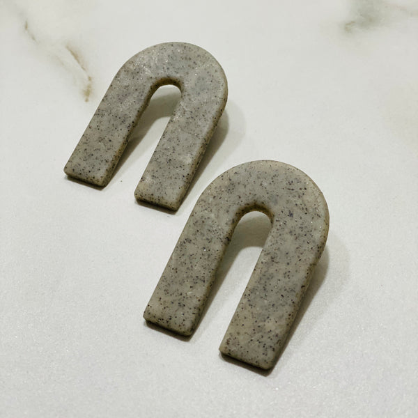 Clay Collection - Magnes Earrings in Granite