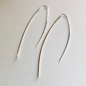 Feather Wire Collection - Alice Silver Teardrop Earrings