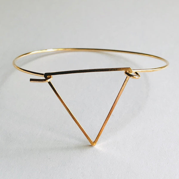 Geometric Collection - Triangle Bangle Bracelet