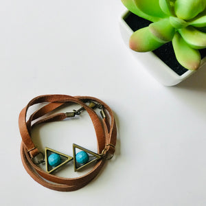 That's A Wrap - Deerskin Leather Pendant Wrap Bracelet (Nickel Free)
