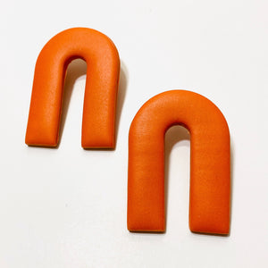 Clay Collection - Magnes Earrings in Mandarin