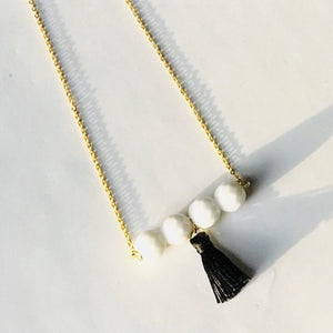 The Kadence - Bead Bar & Tassel Necklace (Nickel Free)