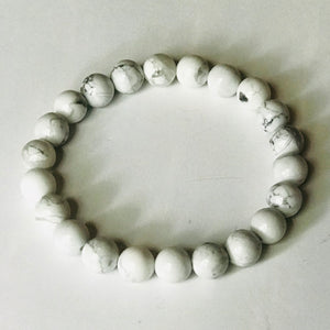White Noise - White Stacking Bracelets (Set of 2)